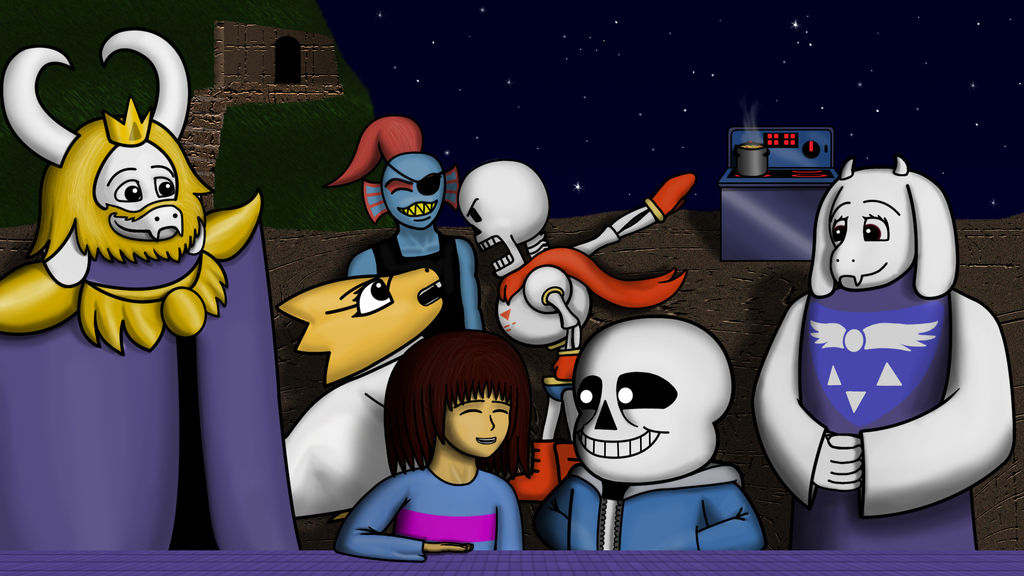 Undertale Wallpaper: Pacifist Picnic (spoilers) by StephOBrien