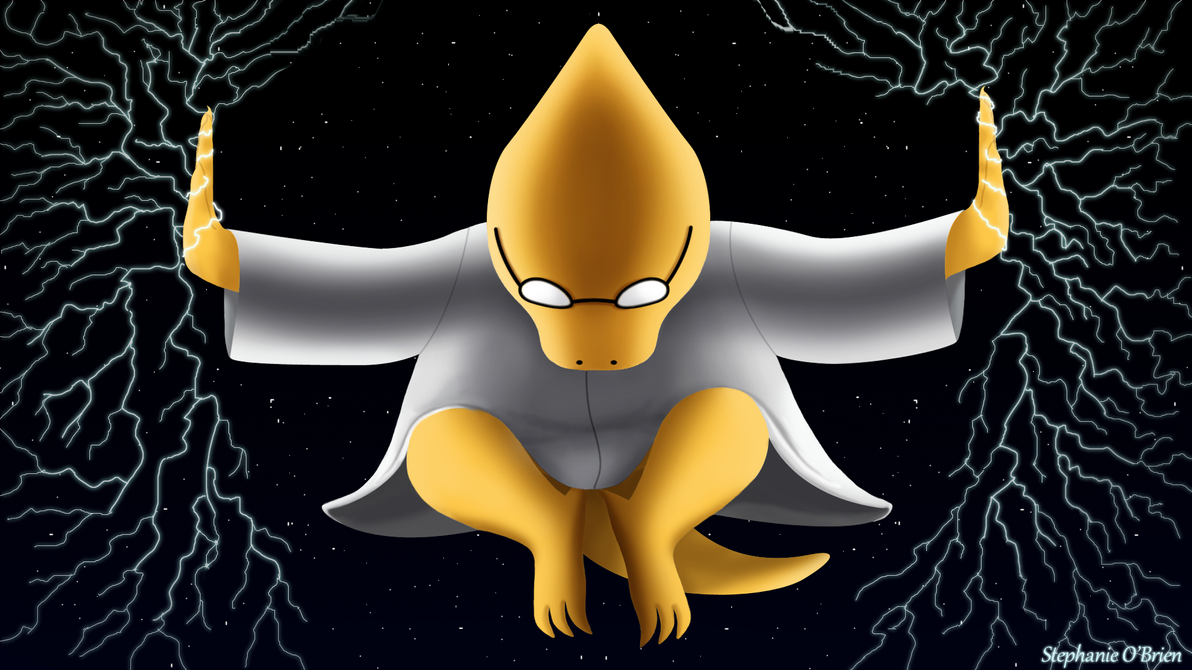 Undertale Wallpaper: Lightning Ninja Alphys by StephOBrien