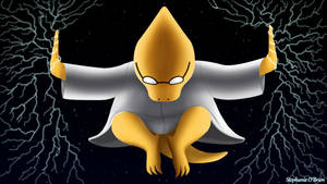Undertale Wallpaper: Lightning Ninja Alphys