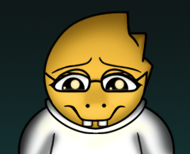 New head design for Alphys by StephOBrien