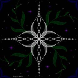 Symmetric Pattern: Woven Flower by StephOBrien