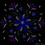 Symmetric Pattern: Blue Starflower by StephOBrien