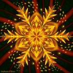 Symmetric Pattern: Forest Fire Flake by StephOBrien