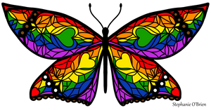 Fly With Pride: LGBTQ Flag Butterfly