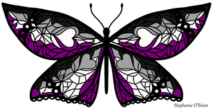 Fly With Pride: Asexual Flag Butterfly