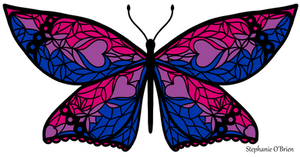 Fly With Pride: Bisexual Flag Butterfly