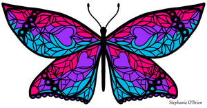 Fly With Pride: Androgyne Flag Butterfly