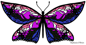 Fly With Pride: Genderfluid Flag Butterfly