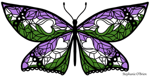 Fly With Pride: Genderqueer Flag Butterfly