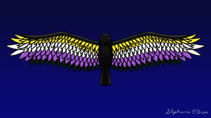 Fly With Pride, Raven Series - Nonbinary