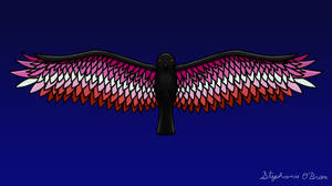 Fly With Pride, Raven Series - Lesbian