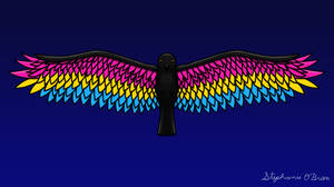 Fly With Pride, Raven Series - Pansexual