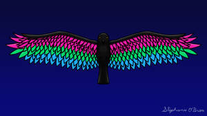 Fly With Pride, Raven Series - Polysexual