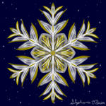 Gilded Space Snowflake 4