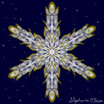 Gilded Space Snowflake 6