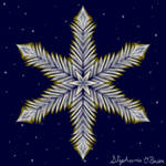 Gilded Space Snowflake 7