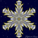 Gilded Space Snowflake 5
