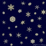 Gilded Space Snowflake Collage