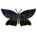 Swirls and Silk - Genderqueer Flag Butterfly