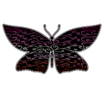Swirls and Silk - Lesbian Flag Butterfly