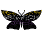 Swirls and Silk - Nonbinary Flag Butterfly