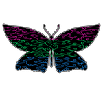 Swirls and Silk - Polysexual Flag Butterfly