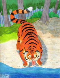 Tiger Drink by kyrtuck