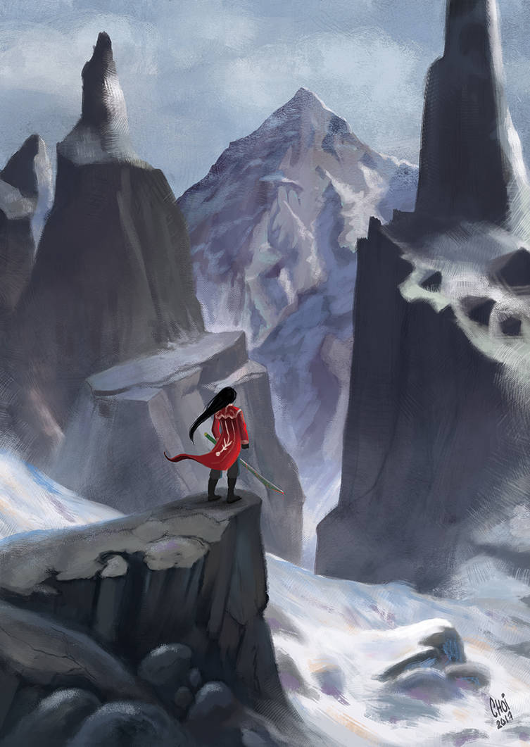 Towards the snowy mountains