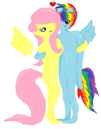 Fluttershy Rainbow Dash Clop
