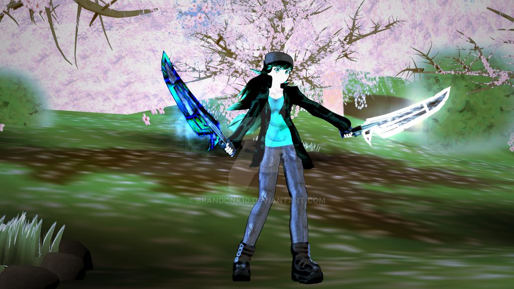 Jade Water and Steam Swords by BrandonK10