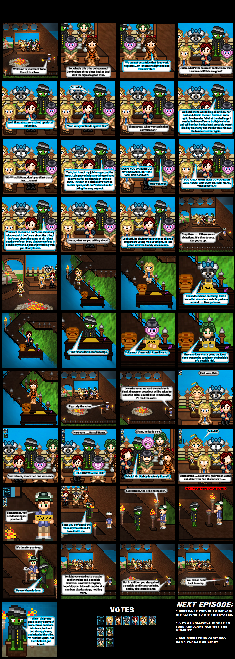 SFC7 Day 8 Tribal Council by SWSU-Master