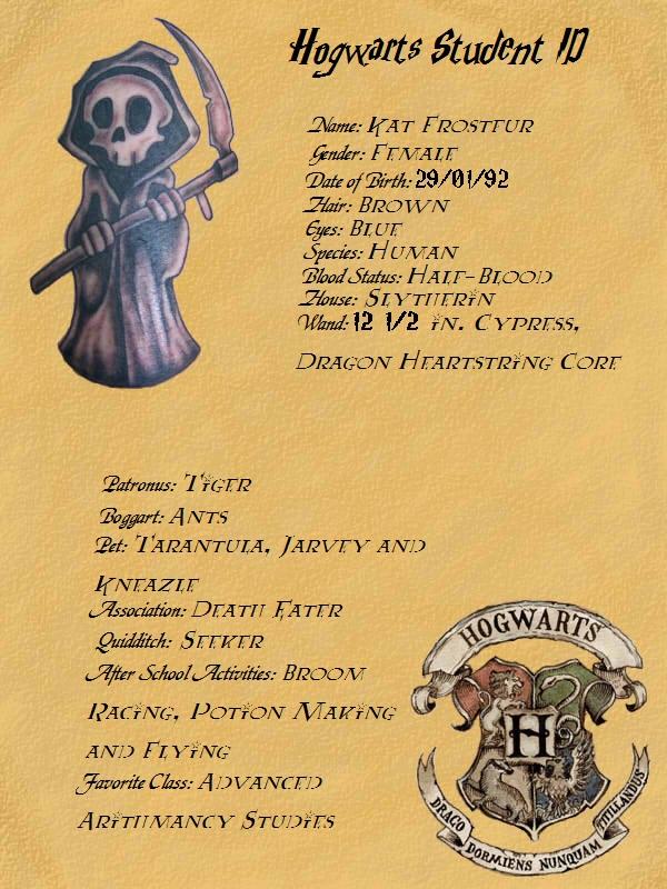 hogwarts student id by katfrostfur on deviantart