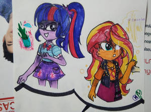 MLP Sci -Twi and Sunset