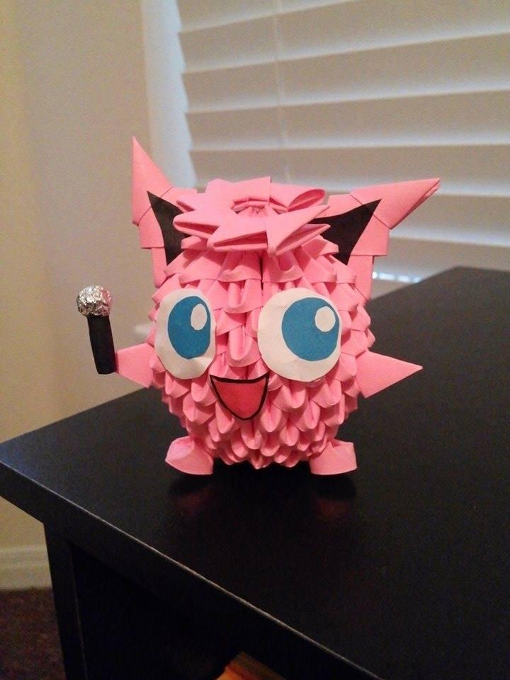 3d Origami Jigglypuff By Jinwookster On Deviantart