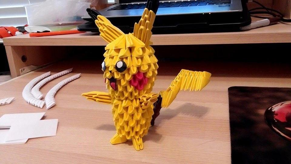 3D Origami Pikachu By Jinwookster