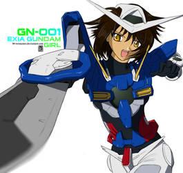 Exia Gundam Girl by twtmaster