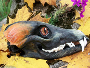 Living Heads Cross Fox Skull SOLD