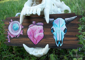 Eye Heart Skulls Sign by Shadyufo