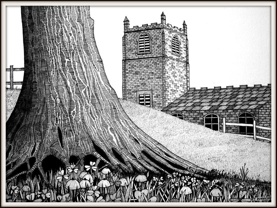 Yew Tree Drawing