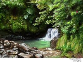 Water and Foliage study~