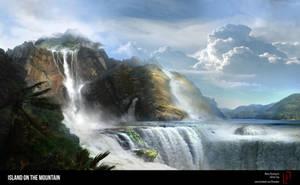 Island on Mountain by DreadJim