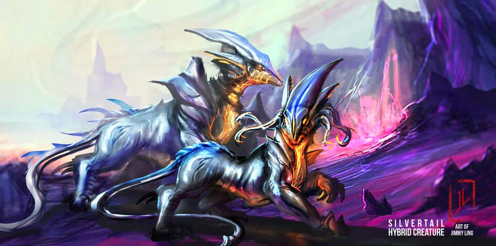 Silvertails Creature Designs by DreadJim