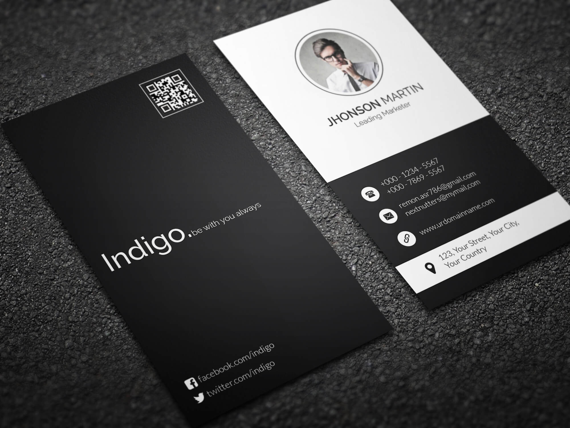 minimal vertical business card by remon92 on deviantart