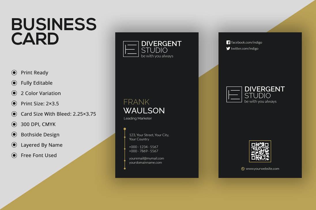 minimal vertical business cardremon92 on deviantart