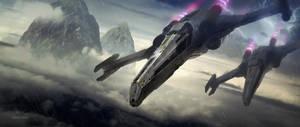 X-Wings Fly by dvsdesigner
