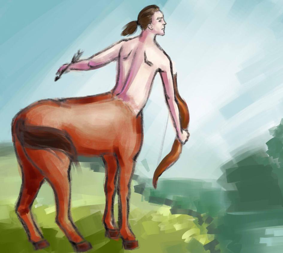 Slavic Centaur by nikkeae