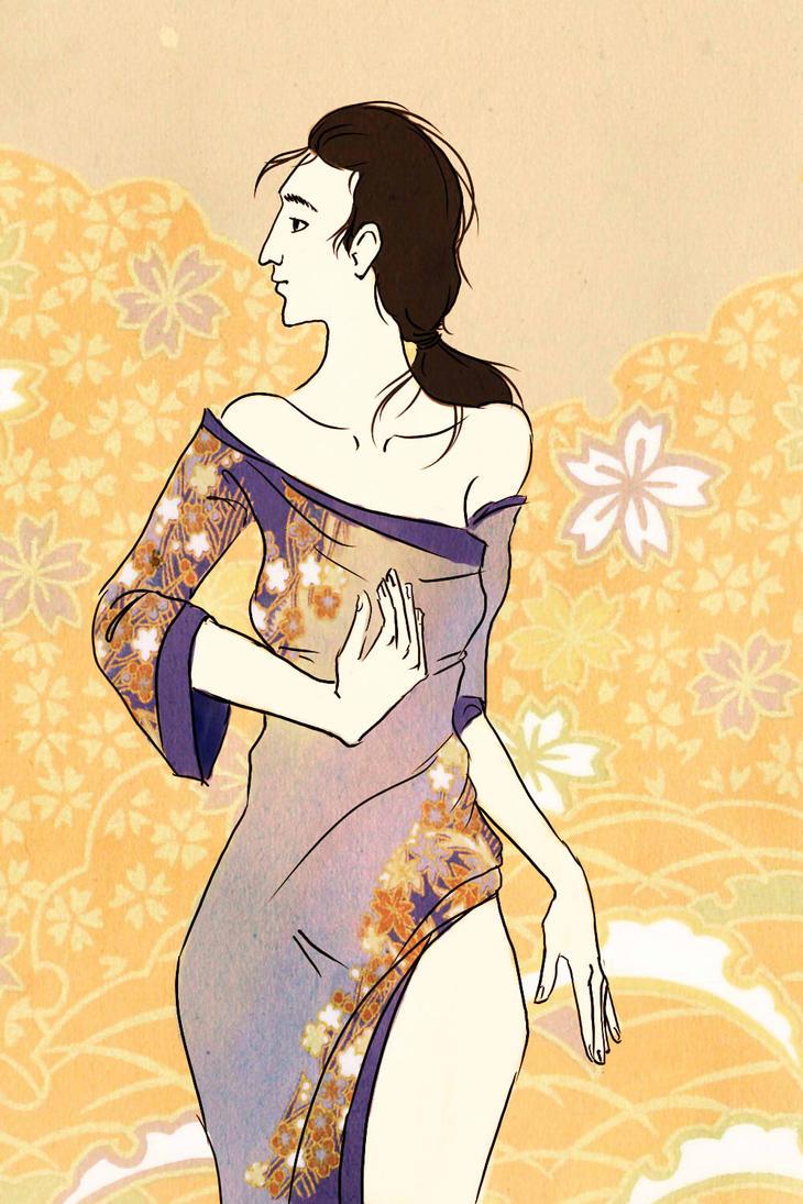 Ukiyo-e Style Portrait by nikkeae