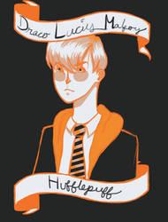 Draco Lucius Malfoy: Hufflepuff by X-X-charlie-X-X