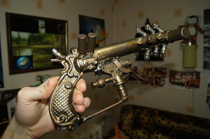 steampunk gun by fiaformulaone