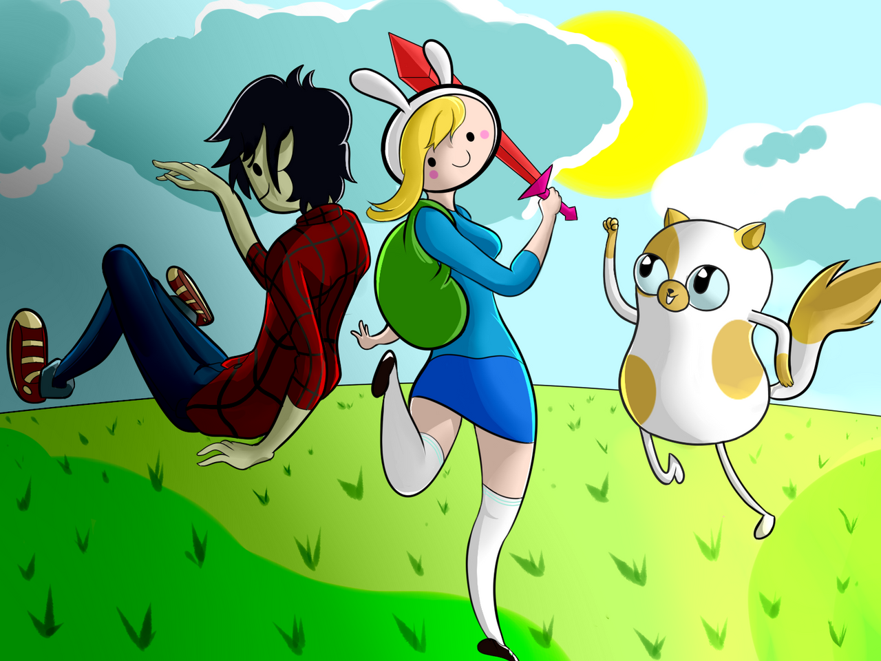 Fiona Cake and Marshall Lee by kamzilla456